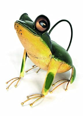 Blue Handworks Sitting Frog Watering Can