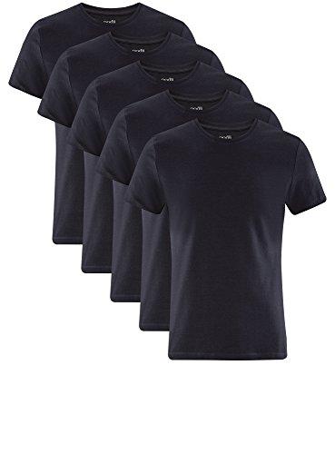 lot shirt Bleu Oodji Basique T 7901n Ultra 5 Homme Étiquette De Sans qFw07
