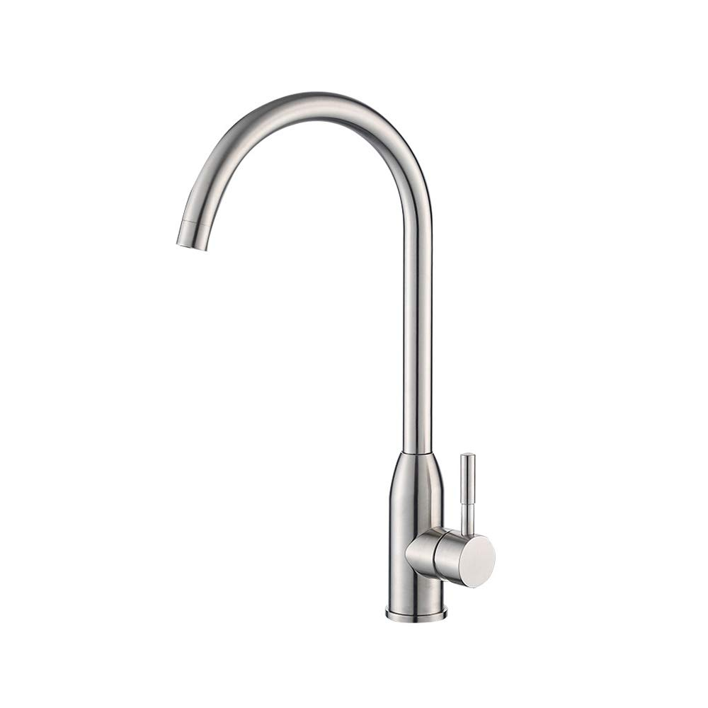 Yanyuw GFFXIXI Kitchen Sink Tap GFFXIXI Sink Mixer for Kitchen Faucet Taps in Brushed Nickel
