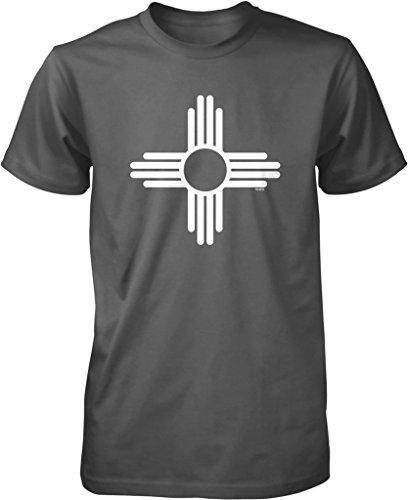 New Mexico Zia Sun Symbol Men's T-shirt, NOFO Clothing Co. L (Symbol New T-shirt)