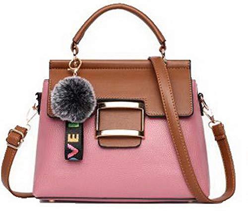 Moda VogueZone009 Dacron a Rosa Vestito tracolla cerniere Donna CCALBO181773 Rosa Borse prqq5