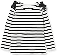 LOOK by Crewcuts Girls 3/4 Sleeve Bow Shoulder Top Shirt