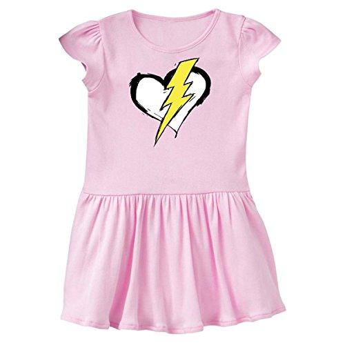 inktastic - The Flash Heart Toddler Dress 3T Ballerina Pink c3c2 (Dress Heart Ballerina)
