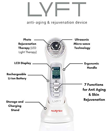 LYFT 2.0 by Nurysh. Facial Cleansing & Firming Massage Device. Galvanic & Micro-Vibration Technologies. Rejuvenate, Cleanse, Smooth Fine Lines, Tighten Skin, and Reduce Skin Irritation. by Nurysh (Image #2)