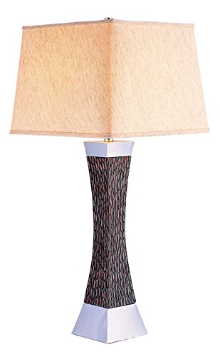 Furniture of America L94179T Pandora Dark Wood Table Lamp Miscellaneous-Others