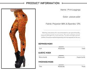 Cute Halloween Leggings for Women Pumpkin Print Workout/Yoga Pants Stretch Tights