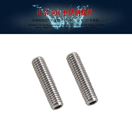 Ochoos 1000pcs M1.6 DIN916 ISO4762 Hexagon Socket Head Set Screws with Cup Point 304 Stainless Steel Hex Socket Grub Screws Wholesale - (Length: M1.6-3)