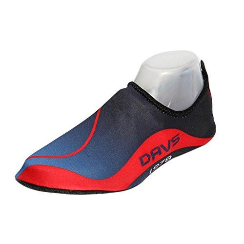Nacome Vatten Skor Aqua Hud Skor Lätta Quickdry Hållbara Strumpor För Stranden Poolen Sand Simning Surf Yoga Snorkling Dam Barn Röd