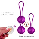 Kegel Exercise Weights - Iusmnur 2 in 1 Ben Wa Kegel Balls for Beginner&Advanced - Recommended for Women&Girls Bladder Control and Pelvic Floor Exercises