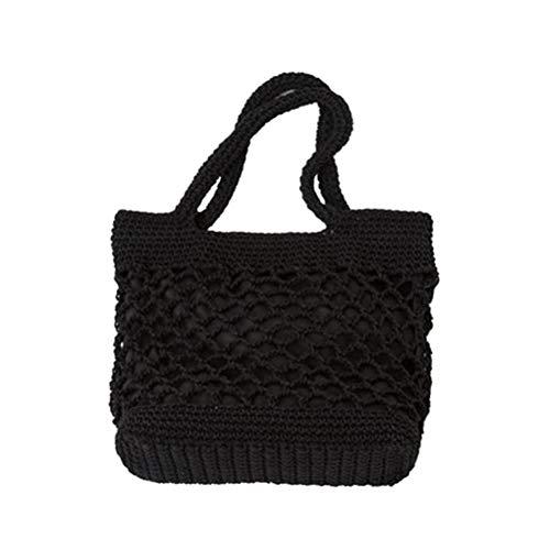 TENDYCOCO Straw Shoulder Tote Crochet Beach Bag Woven Handbag & Purse Handmade for Women