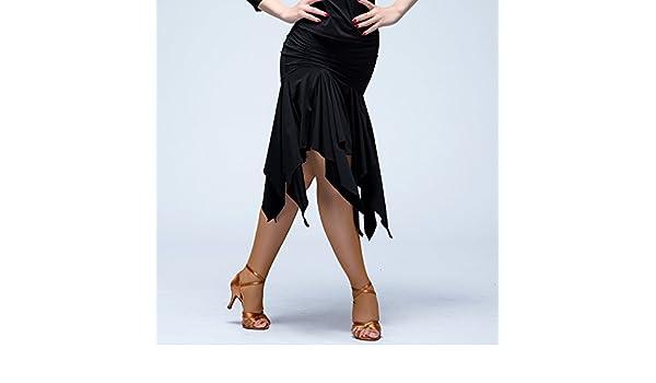Mujer faldas de danza latinoamericana . black . s: Amazon.es ...