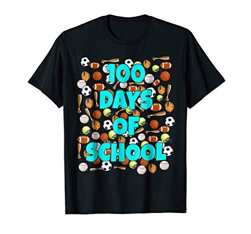 100 Days of School T Shirt for kids or teachers - Sports -