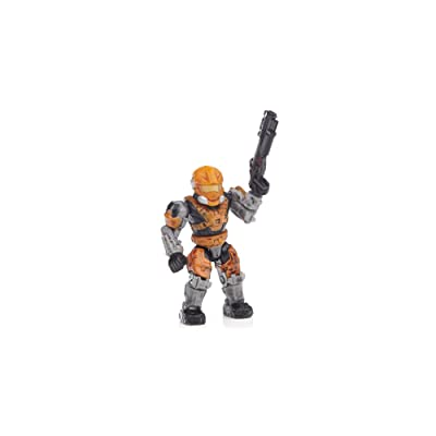 Halo Wars Mega Bloks LOOSE Mini Figure UNSC Orange Spartan Hazop: Toys & Games