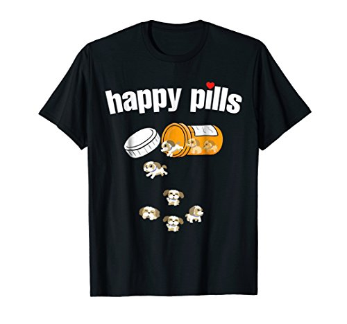 Shih Tzu Pills Funny Dog T Shirt ()