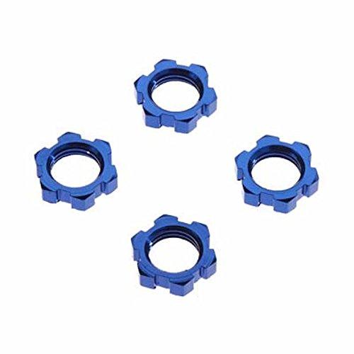 Traxxas 7758 X-Maxx Serrated, Blue-Anodized Wheel Nuts (set of 4) -