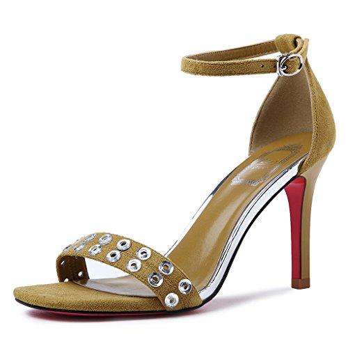 Heel Shoes Home Alta Mujer Sandalias Zapatos Diario Tacones El De GAOLIM Verano verdeJ De qXIw64