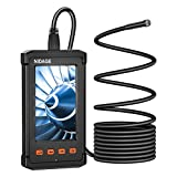 Industrial Endoscope 4.3inch LCD Screen 5.5mm Borescope Camera, 1080P HD Digital Inspection Endoscope, IP67 Waterproof Handheld Inspection Camera with 6 LED Lights, 2800mAh Battery Snake Camera with 8G SD Card(11.5FT)