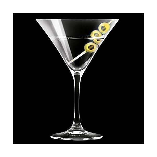 Krosno Bicchieri Cocktail Martini Bar Vetro Coppa | Set di 6 | 150 ML | Elite Collection | Ideale per la casa… 6 spesavip