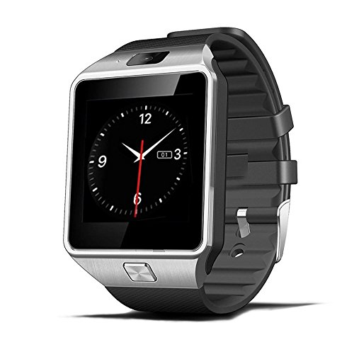Luxsure Smartwatch DZ09 Bluetooth Smart Watch Wrist Wrap Watch Phone Micro SIM Card with Camera Touch Screen for Samsung Galaxy S4/S5/S6, HTC and iPhone 5, iPhone 6/6 Plus Smartphones(Black)