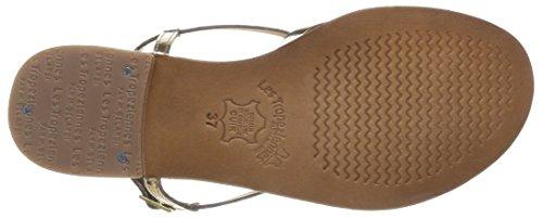 Monaco, Women's Sandals Gold (Or/Bleu)