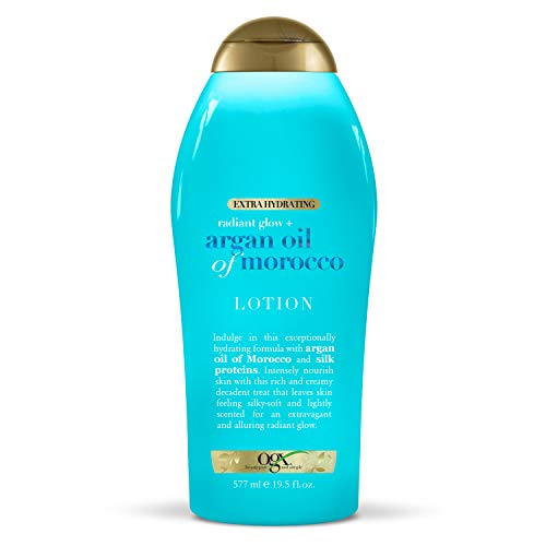 OGX Radiant Glow + Argan Oil of Morocco Extra Hydrating Lotion, 19.5 Ounce