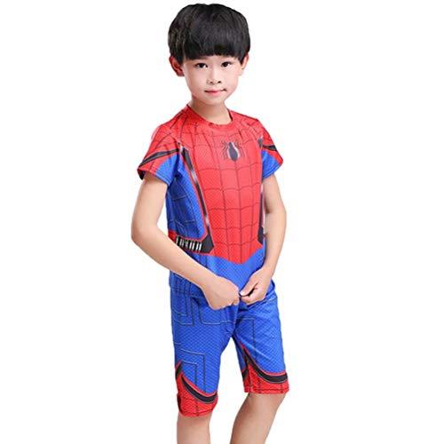 Tsyllyp Kids Boys Spider-Man Superhero Halloween Costume Clothing Shorts Set Suit -