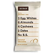 RXBAR Whole Food Protein Bar, Coconut Chocolate, Gluten Free, 1.83oz Bars, 12 Count