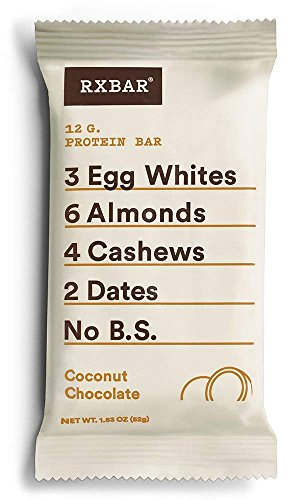 RXBAR Whole Food Protein Bar, Coconut Chocolate, Gluten Free, 1.83oz Bars, 12 - Bar Clif Coconut Chocolate Chip