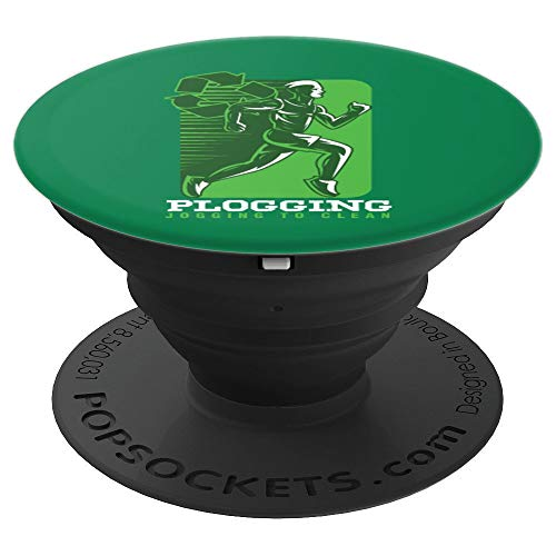 Fitness Enthusiast Track And Field Plogging Recycling Nature PopSockets Grip and Stand for Phones and Tablets (Cell Phone Recycling)