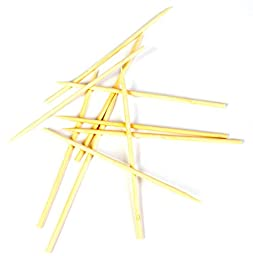 Culinary Elements Bamboo Candy and Caramel Apple Sticks for 50 Individual Servings, 5--pack (250 Sticks in total)