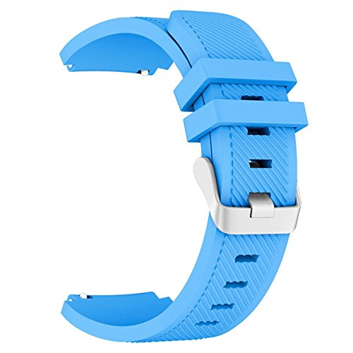 Gear S3 Frontier/Classic Watch Band, VONTER Soft Silicone Replacement Sport Strap for Samsung Gear S3 Frontier / S3 Classic/Moto 360 2nd Gen 46mm Smart Watch, NOT FIT S2 & S2 Classic & Fit2,Blue