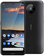 "Nokia 5.3 Android One Smartphone (Official Australian Version 2020) Unlocked Mobile Phone with Quad Camera, Large 6.55"" Screen, 2-Day Battery, European Design and Dual SIM, 64GB, Charcoal"