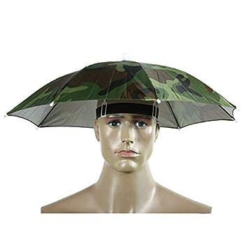 Broadroot Protable paraguas sombrero un tamaño sombrero de sol, 55 cm) para festivales al