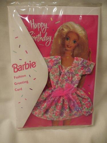Price comparison product image Barbie HAPPY BIRTHDAY Fashion Greeting Card (1994)
