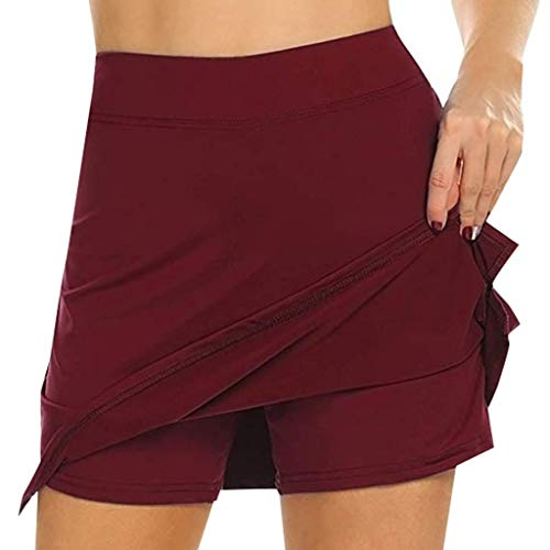 - Women Skorts Bxzhiri Classy Running Tennis Golf Workout Sports Skirt Red