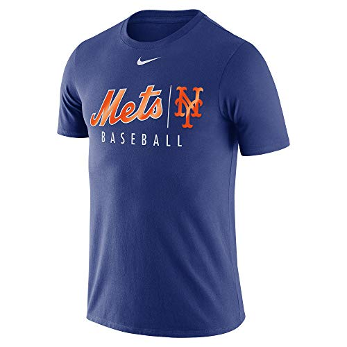 Nike Men's MLB New York Mets Practice Tee Shirt Royal Size Small