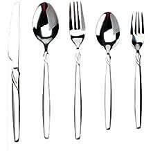 Besli 35 Pieces Premium Stainless Steel Flatware Set Silverwae Set,Mirror Polished,Service for 7,includes 7 Salad Forks,7 Dinner Forks,7 Tea Spoons,7 Dinner Spoons,7 Knives, Dishwasher Safe