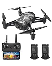 $183 » HR H2 Drone with 1080p Camera,Mini Quadcopter for Beginners with Altitude Hold,One Key Start/Land,Draw Path,2 Modular Batteries,Remote Control Toys Gifts for Boys Girls