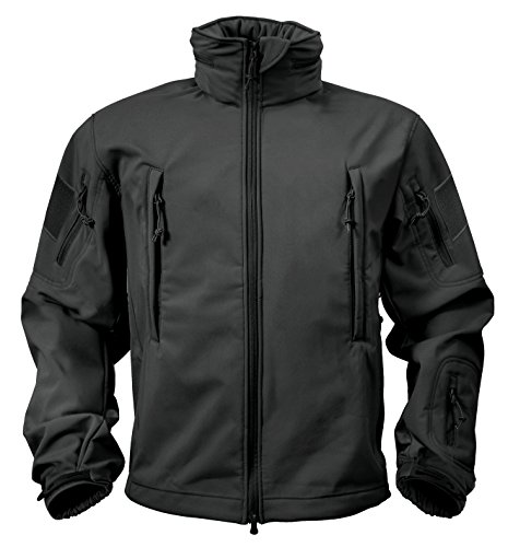 Rothco Special Ops Softshell Jacket, Black, X-Large (Ops Commando Air)