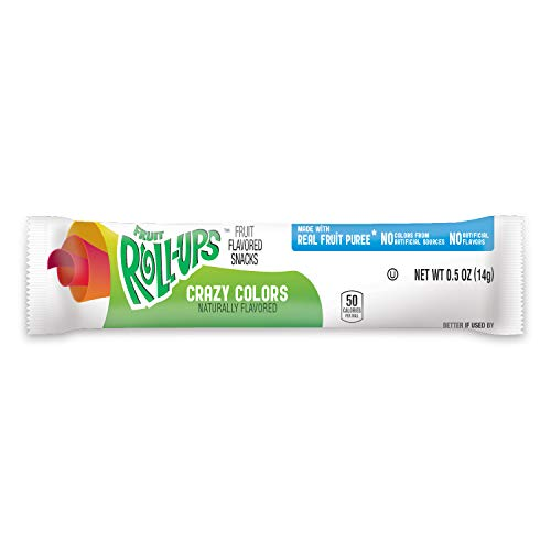 Fruit Roll Crazy Colors, 0.5-Ounce Packets (Pack of 96)