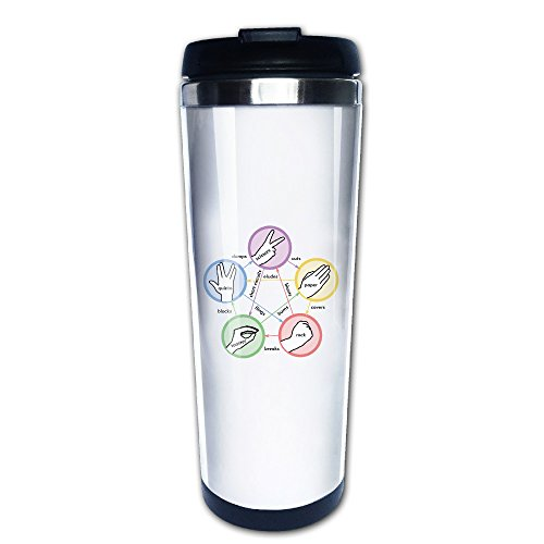 [Big Bang Theory Rock Paper Scissors Lizard Spock Travel Coffee Mugs Tea Mug] (Scissors Paper Rock Costume)