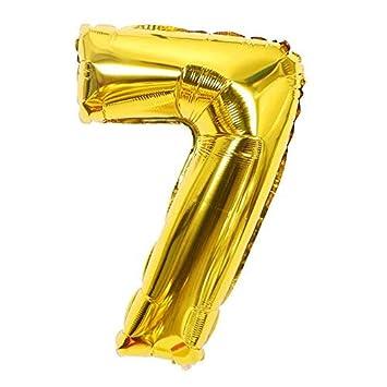 ShopVip Globos de cumpleaños - número 7 - Decoración ...