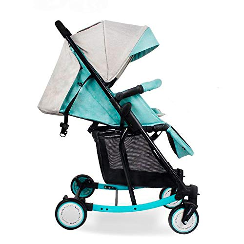 3 in 1 pram Five-Point Security Million Forward Wheel One-Click Folding Multifunction Strollers,Green,55cm72cm100cm