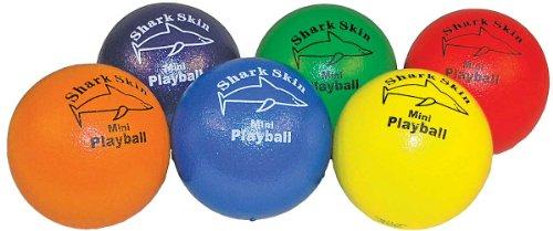 Great Lakes Sports Shark Skin Mini Foam Playballs with Super Tough Skin Coating (Set of 6)