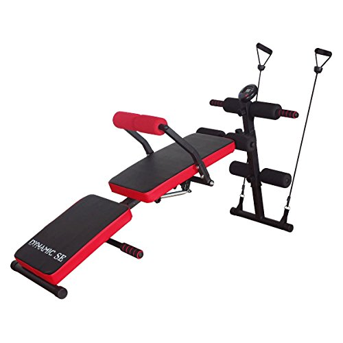 DYNAMIC SE Sit Up Bench Adjustable with Waist Back Support and LCD Monitor Decline Bench Press Weight Bench for Full Body Workout Review