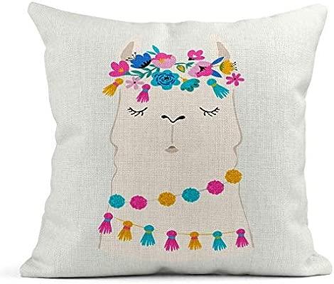 Kinhevao Cojín Colorido Unicornio Llama Lindo y para vivero ...