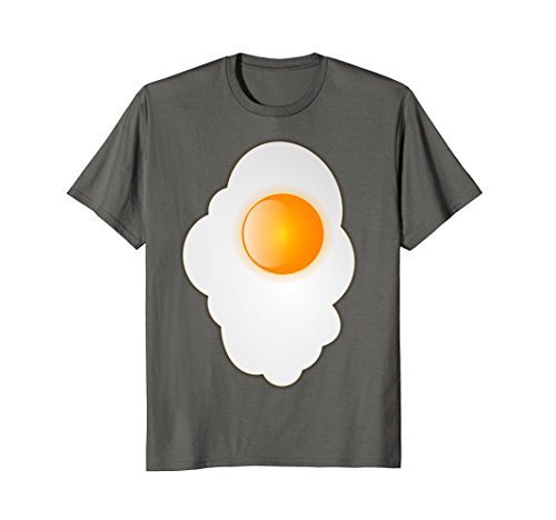 Mens Fried Egg last minute funny Halloween costume tshirt 3XL Asphalt ()