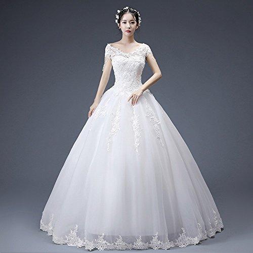 Da Modo Parola Della Spalla Nappa Vestito Sposa Cerimonia Di bianca Dididd m Nuziale R65nwx