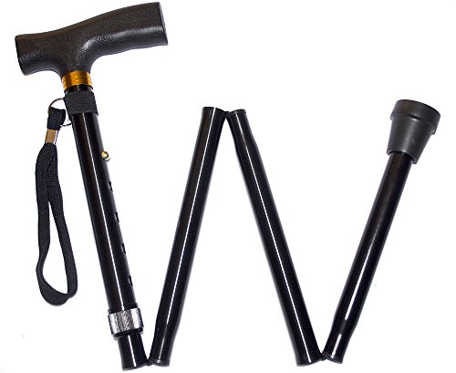 Foldable Walking Cane - Lightweight Strong Compact with Rubber Foot for Secure Support