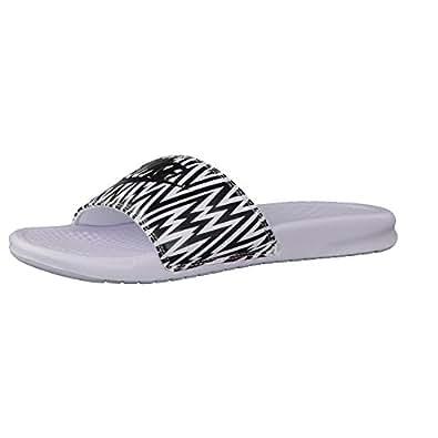 Nike White Benassi JDI Slide Sandals - Women
